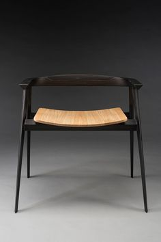"""mid-century-furniture: """"The Spada Chair by Fabiano Sarra """" Wooden Chair Plans, Chair Design Wooden, Wood Furniture, Modern Furniture, Furniture Design, Furniture Cleaning, Espace Design, Muebles Art Deco, Built In Bookcase"""