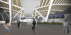 (Conceito) Aeroporto Internacional de Foz do Iguaçu / (concept) Foz do Iguaçu international airport, Arq. Paulo França