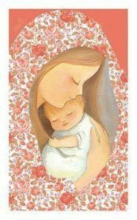 Blessed Mother Mary, Blessed Virgin Mary, Catholic Art, Religious Art, Cute Illustration, Watercolor Illustration, Sainte Rita, Mama Mary, Jesus Art