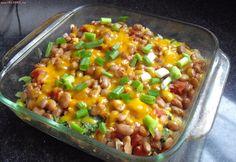 Recept online: Fazole zapečené s rajčaty a čedarem : Výživný pikantní pokrm z fazolí zapečených s čedarem, rajčaty a chilli kořením
