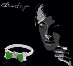 Rings are forever, and when you choose a diamond ring for yourself or for someone you love, you make a promise for eternity. This can be perfect for your daily wear needs and can be adequately used for parties, as well.    For this shining diamond ring with green hues set in sterling silver, check here http://diamondnyou.com