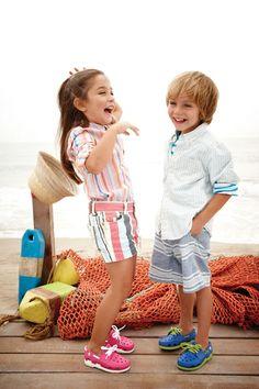 Kids Beach Line Lace Boat Shoe | Find more comfy, colorful and fun shoes at www.crocs.com! #crocs #fun #style #men #women #kids #fashion #shoes