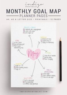 Goals Planner, Planner Pages, Blog Planner, Health Planner, Weekly Planner, Planner Stickers, Printable Planner, Goals Printable, Planner Organization