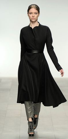 David Koma Autumn - Winter 2011 Collection. This coat would be gorgeous in a pastel color too.