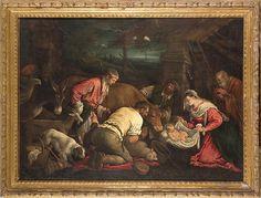 Leandro Bassano, Adorazione dei pastori - Adorazione dei pastori -Leandro Da Ponte, detto il Bassano (1557 – 1622), Adorazione dei pastori, olio su tela, 135 x 100 cm, collezione privata.