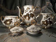 Bareuther bavarian antique vintage gold on porcelain tea set | eBay