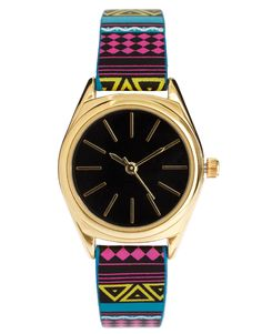 ASOS aztec bright watch
