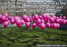 What a cool party hack...If it's a kids party or bridal shower how about put surprises in some and make a game of it. #golfhacks #diypartyhacks
