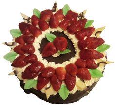jahodový dort většího průměru