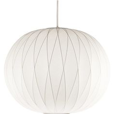 George Nelson Small Bubble Crisscross Ball Pendant Light ($585) ❤ liked on Polyvore featuring home, lighting, ceiling lights, lights, incandescent lights, round lamp, orb light, bubble lights and orb lighting