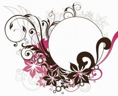 Circle Frame with Floral Decorations Vector Graphic Vector floral - Free vector for free download