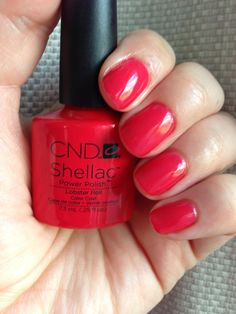 CND Shellac - Lobster Roll. Awesome shade!!!! Pinned tested & approved