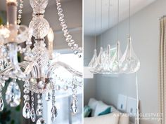 Uniqueness Of Lighting Crystal Clear Chandeliers By Calgary Interior Designer Natalie Fuglestveit Design