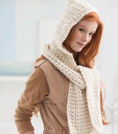 FREE Cozy Crochet Hooded Scarf Pattern