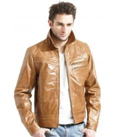 Keep yourself warm and stylish with mens leather zip front jacket for men. A complete and fashionable outerwear for men for getting a stylish look in winters.