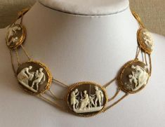 RAREST-MUSEUM-QUALITY-VICTORIAN-CAMEOS-SET-NECKLACE-amp-BRACELET-LAYAWAY-WELCOME