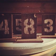 A personal favourite from my Etsy shop https://www.etsy.com/uk/listing/252524798/rustic-wedding-table-numbers-table-logs