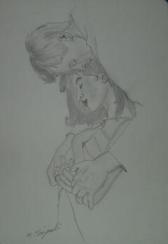 """,,Zakochani"""" (rys ołówkiem)"""