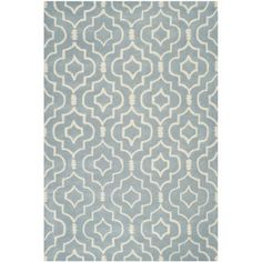 @Overstock.com - Safavieh Handmade Moroccan Chatham Blue/ Ivory Wool Rug (5' x 8') - Safavieh's Chatham collection is inspired by timeless contemporary designs crafted with the softest wool available.  http://www.overstock.com/Home-Garden/Safavieh-Handmade-Moroccan-Chatham-Blue-Ivory-Wool-Rug-5-x-8/8348838/product.html?CID=214117 $198.89