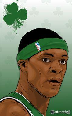 Boston Celtics NBA point guard Rajon Rondo.