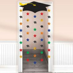Cap and Stars Graduation Door Decoration 66in - Hanging Decorations - Graduation - Special Occasions - Categories - Party City