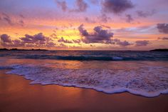 Sunset on a beach in the Bahamas ... it just doesn't get any better!