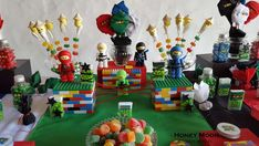 What a fun Ninjago birthday party! See more party planning ideas at CatchMyParty.com!