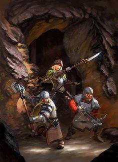 Dwarven Mercenaries by ~Lothrean on deviantART