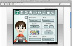 Online Mii Editor For Nintendo Wii
