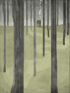nuit 3  Art  Print of an original illustration  wall door aliette