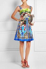 Dolce & GabbanaPortofino printed cotton-poplin mini dress
