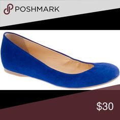 J crew electric blue suede flats In good condition, j crew bright blue suede flats size 7 with an itty bitty heel to give more support. J. Crew Shoes Flats & Loafers