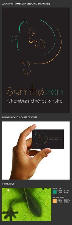Symbozen #logo #logotype #identity #identite #gecko #lizard #lezard #gite #bedandbreakfast #guestroom #zen #bio