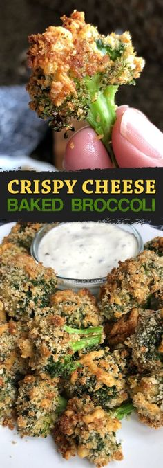 Crispy Cheese Oven Baked Broccoli - This healthy broccoli side dish goes well with everything! The broccoli is roasted with bread crumbs and cheese, and so tasty it can be served as a snack or appetizer. The best finger food! Super quick and easy, Healthy Side Dishes, Vegetable Dishes, Side Dish Recipes, Healthy Finger Foods, Rice Recipes, Recipies, Best Side Dishes, Cheese Recipes, Simple Finger Foods