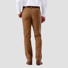 Haggar H26 Men's Slim 5 Pocket Stretch Twill Pants - Camel 38x32