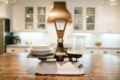 """I love this farmhouse kitchen by Joanna Gaines/Fixer Upper. Today I am sharing all her sources and showing you how to """"get the look"""" in your own home."""