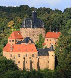 Burg Kriebstein (Kriebstein Castle) Kriebstein, near Waldheim, Saxony, Germany.