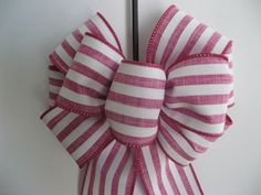 ready made bow wreath bow summer bow spring by BabesnBowsBoutique