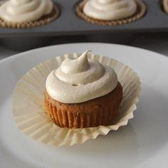 Vegan coconut sugar cupcakes with caramel buttercream. YUM.