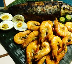grilled milkfish & shrimps