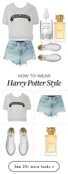 """Not a big fan of Harry Potter but Just in case some of you are :)"" by alexis-sites-617 on Polyvore featuring T By Alexander Wang, Converse, Herbivore and Tory Burch"