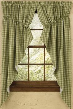 Park Designs Sturbridge Lined Gathered Swag 72 x 63 Green * You can find more details by visiting the image link-affiliate link. #Draperies& Curtains