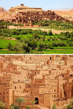 "Ait Benhaddou is an impressive fortified city made up of many ""kasbahs"". A kasbah is buildings made entirely from mud and straw. Click through to see 20 more UNREAL travel destinaitons!"