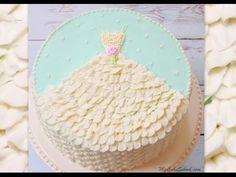 Wedding Dress in Buttercream- A Free Cake Decorating Tutorial! | My Cake School