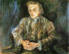 Oskar Kokoschka - Portrait of Adolf Loos (1909)