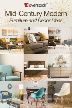 Embrace the retro look. Bring clean lines, geometric shapes, and sleek furniture into your home with these Mid-Century Modern decor ideas. Modern Decor, Mid Century Decor, Mid Century Modern Furniture, Modern Furniture Decor, Sleek Furniture, Furniture Design Modern, Mid Century Modern Living Room, Home Decor, Furniture Decor