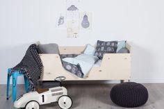 handmade kids playwood bed, kids bedding,