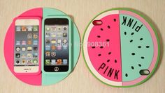 Free Shipping 10 pcs/lot Victoria Pink Secret  Watermelon 3D silicone cell phone Case for iPhone  5 5S $38.99.http://www.aliexpress.com/store/908361