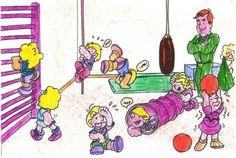 La educación física infantil es donde comienza todo, a ¡¡¡divertirse!!! futuros campeones.