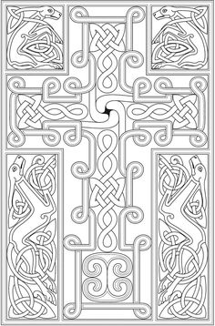 Cross coloring page for adults – Tattoo World Cross Coloring Page, Adult Coloring Book Pages, Coloring Pages To Print, Colouring Pages, Coloring Sheets, Coloring Books, Celtic Patterns, Celtic Designs, Celtic Art